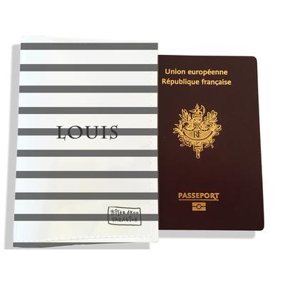 Protège passeport personnalisable pour homme Marinière