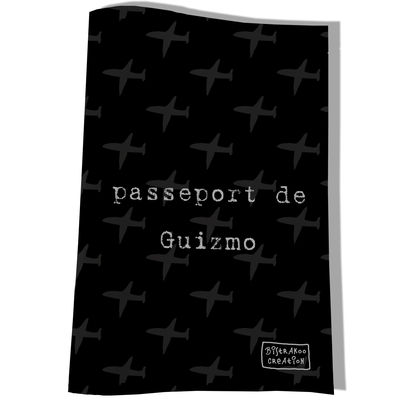 Protège passeport personnalisable pour chien coloris noir