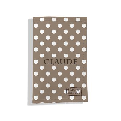 Porte carte grise personnalisable pour femme Pois