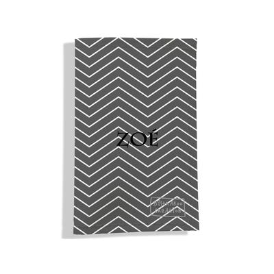 Porte carte grise personnalisable pour femme Chevrons