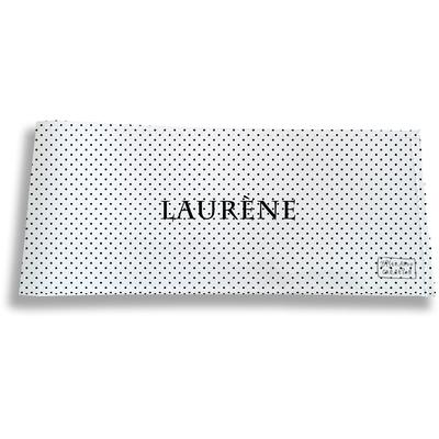 Porte-chéquier long horizontal personnalisable à rabats pour femme Pois