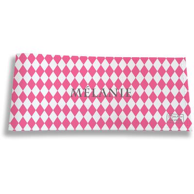 Porte-chéquier long horizontal personnalisable à rabats pour femme Graphique