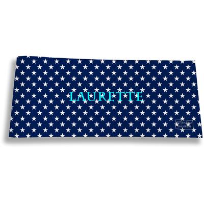 Porte-chéquier long horizontal personnalisable à rabats pour femme Etoiles
