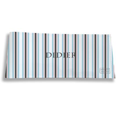 Porte-chéquier long horizontal personnalisable à rabats pour homme Bayadère