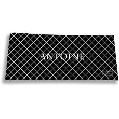 Porte-chéquier long horizontal personnalisable à rabats pour homme Grille