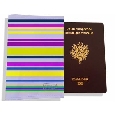 Protège passeport femme Bandes multicolores PP7097