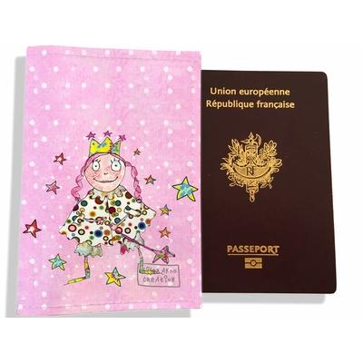 Protège passeport fille enfant fée PP7130