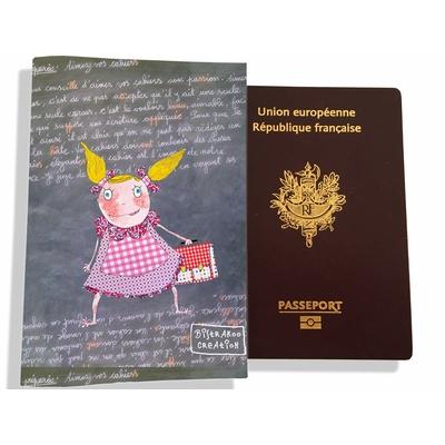 Protège passeport fille enfant Petite écolière PP7126