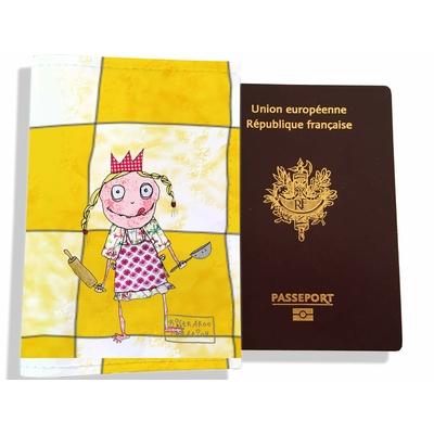 Protège passeport fille enfant Petite princesse à la cuisine PP7123