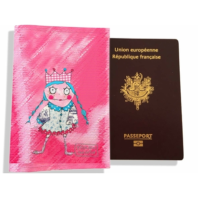 Protège passeport fille enfant Petite princesse PP7121
