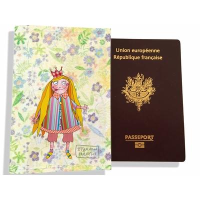 Protège passeport fille enfant Petite princesse PP7124