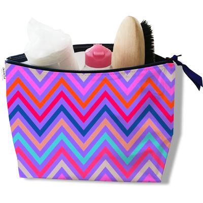 Trousse de toilette pour femme chevrons multicolores 3097-2017