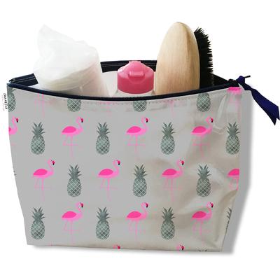 Trousse de toilette pour femme flamants roses et ananas 3216-2017
