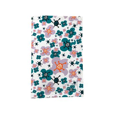 Porte-papiers de voiture Petites fleurs vert orange 3225-2017