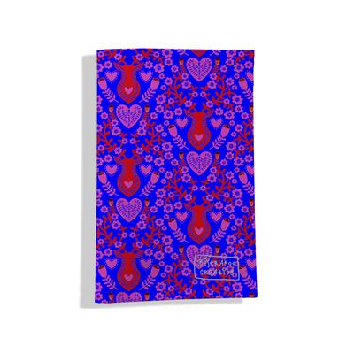Porte-papiers de voiture Scandinave rouge et bleu 3234-2017
