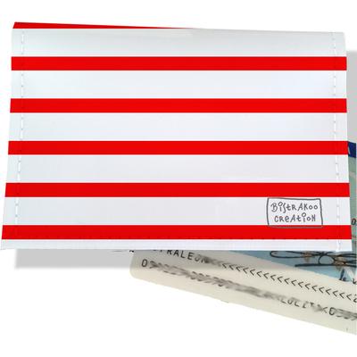 Porte-carte d'identité femme Marinière rouge 2124