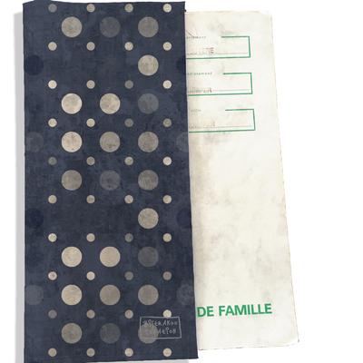 Protège livret de famille Pois gris anthracite L1600
