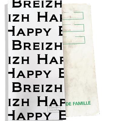 Protège livret de famille breton Bretagne Happy Breizh Gwen Ha Du L8004