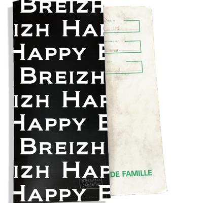 Protège livret de famille breton Bretagne Happy Breizh Gwen Ha Du L8005