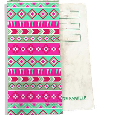 Protège livret de famille Aztec multicolore 2317