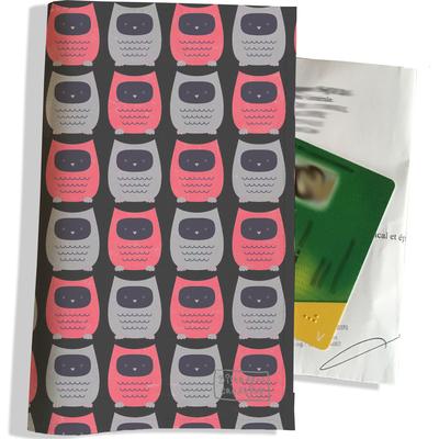 Porte ordonnance et carte vitale Chouettes roses et grises PO1509