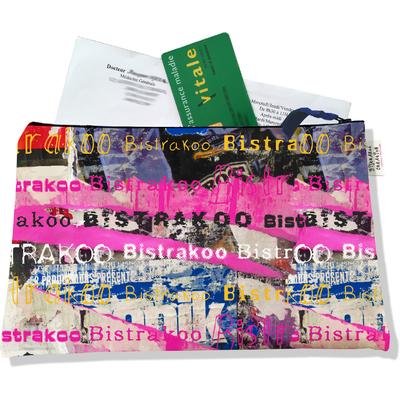 Porte ordonnances zippé pour femme Affiches lacérées Bistrakoo 2290