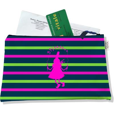 Porte ordonnances zippé pour femme Bigoudène Bistrakoo rose fond marinière multicolore 895
