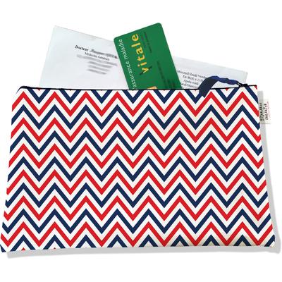 Porte ordonnances zippé Chevrons bleus blancs rouges 2125