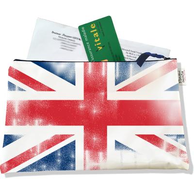 Porte ordonnances zippé Drapeau anglais Union Jack vintage 750