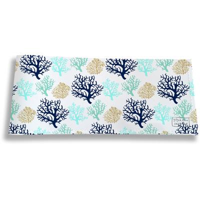 Porte-chéquier long horizontal pour femme Corail bleu 3071