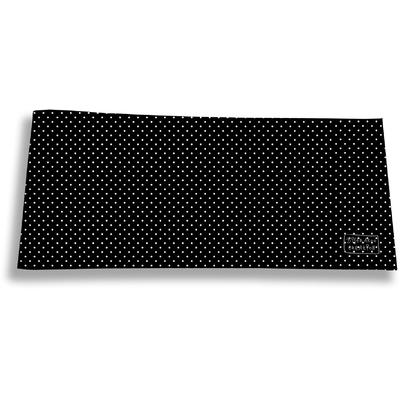 Porte-chéquier long horizontal pour femme Petits Pois blancs fond noir 2066