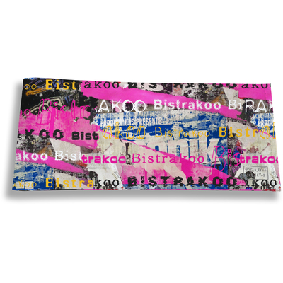 Porte-chéquier long horizontal pour femme Street art Bistrakoo 2290
