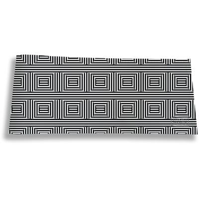 Porte-chéquier long horizontal pour homme Cinétique noir et blanc 2165
