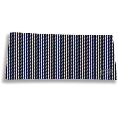 Porte-chéquier long horizontal pour homme Cordage bleu marine 2133