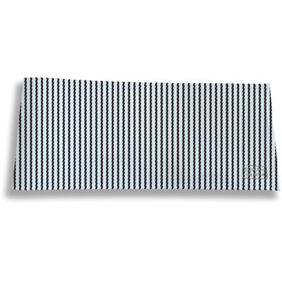Porte-chéquier long horizontal pour homme Cordage bleu marine 2139