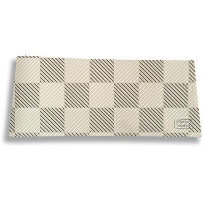 Porte-chéquier long horizontal pour homme Damier graphique beige 2111