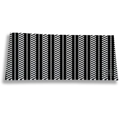 Porte-chéquier long horizontal pour homme Graphique noir et blanc 2163