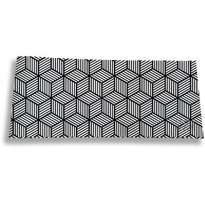 Porte-chéquier long horizontal pour homme Graphique noir et blanc 2164