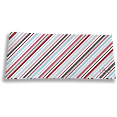 Porte-chéquier long horizontal pour homme Lignes transversales multicolores 2146