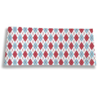 Porte-chéquier long horizontal pour homme Losanges bleus et roses 2147