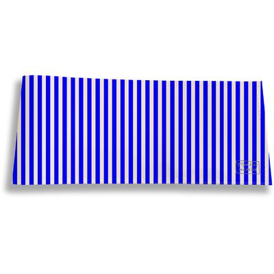 Porte-chéquier long horizontal Lignes verticales bleues 2383