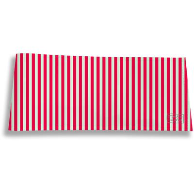 Porte-chéquier long horizontal Lignes verticales rouges 2384