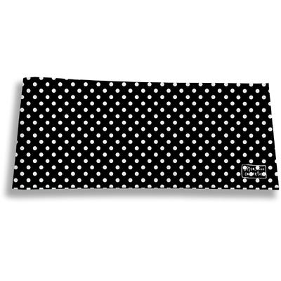 Porte-chéquier long horizontal Pois blancs fond noir 2011