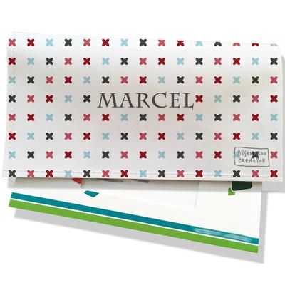 Porte-chéquier portefeuille personnalisé homme petites croix multicolores P2150-2015
