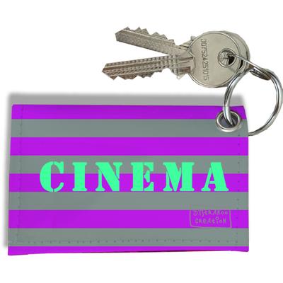 Porte-clés carte de cinéma, Etui porte-clés carte de cinéma Réf. 946