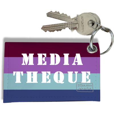 Porte-clés Carte de médiathèque, Etui Porte-clés Carte de médiathèque Réf. 953