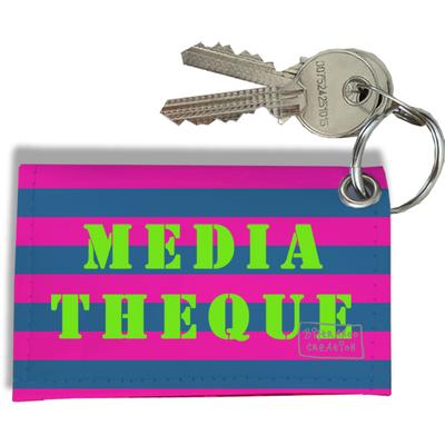 Porte-clés carte de Médiathèque, Etui porte-clés carte de Médiathèque Réf. 956
