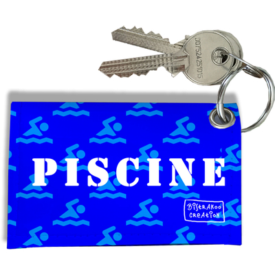 Porte-clés Carte de Piscine, Etui Porte-clés Carte de Piscine (Bleu)