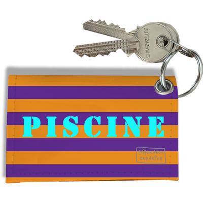 Porte-clés carte de piscine, Etui porte-clés carte de piscine Réf. 937