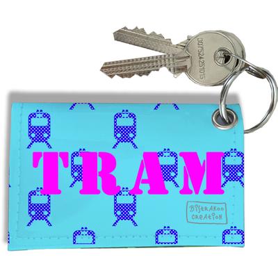 Porte-clés Carte de Tram, Etui Porte-clés Carte de Tram (Bleu Ciel)